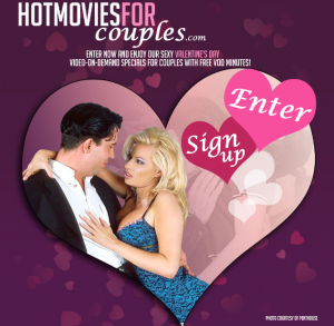 HotMoviesforCouples.com Valentines Day Porn Video Offer for Couples