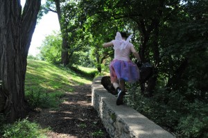 Porn Fairy loves to prance across the countryside