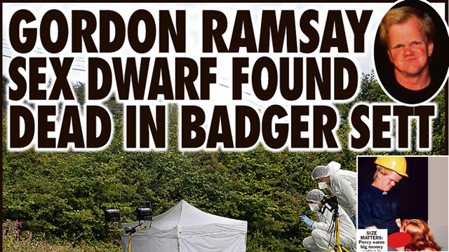 Gordon Ramsay Midget Look-Alike Found Dead by Badger