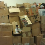 boxes packed with pornos