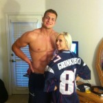 Porn star Bibi Jones with NFL Patriots Tight end Rob Gronkowski