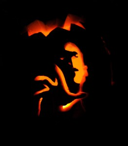 HotMovies Pumpkin Carving Directions Voldemort Finished