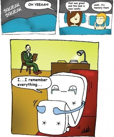 memory foam sex cartoon