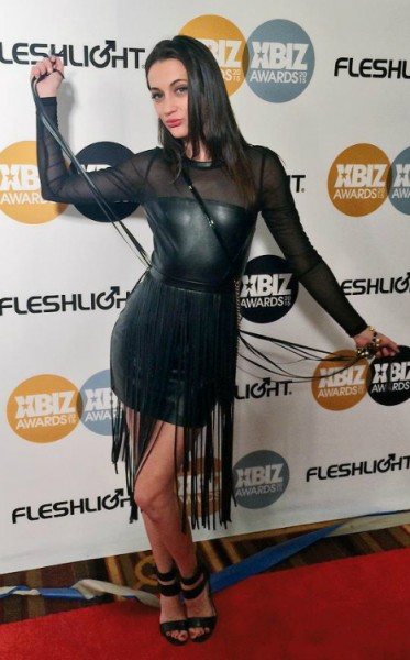 Georgia Jones on the red carpet at XBIZ